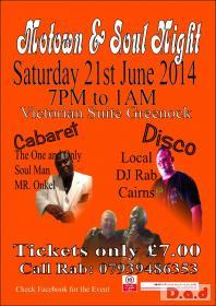 Motown & Soul Night in Inverclyde